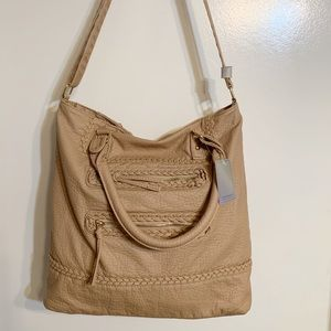 Under One Sky SOFT brown tote purse NWT